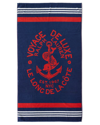 Image 2 of 2: Kacie Beach Towel with Crest