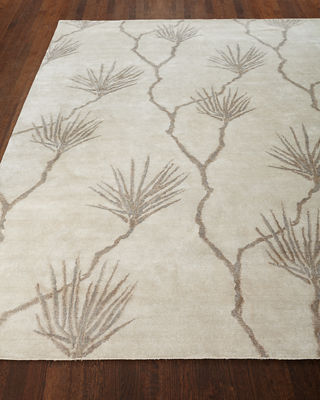 Exquisite Rugs Palm Hand-Knotted Rug, 6' x 9'