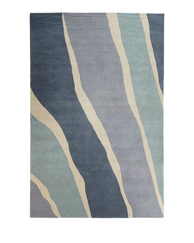 Ocean Waves Hand-Tufted Rug, 8' x 10'