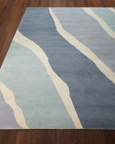 Ocean Waves Hand-Tufted Rug, 5' x 8'