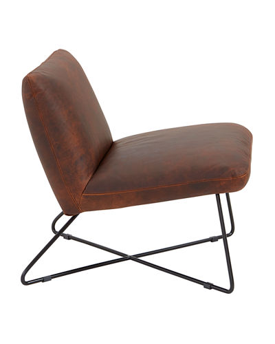 Marley Iron Frame Leather Chair