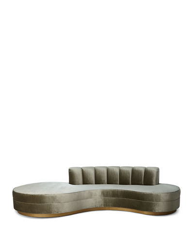 Haute House Layla Chanel Tufted Curved Sofa  121""