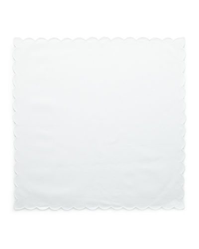 Scallop Trim Dinner Napkins, Set of 4
