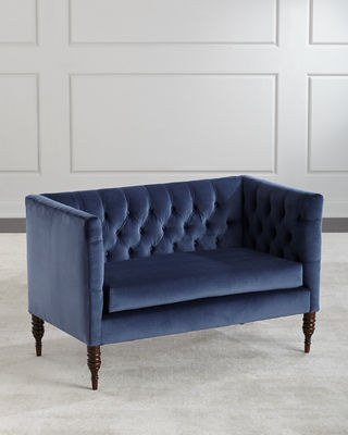 Image 1 of 5: Erika Tufted Settee