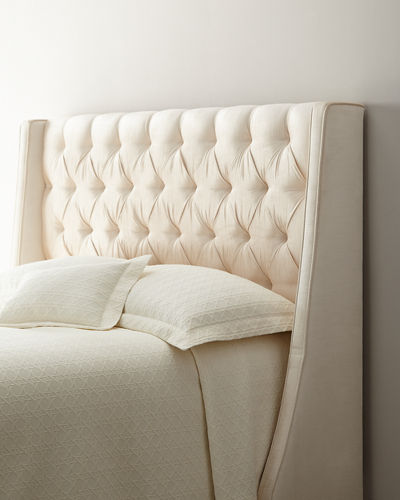 Neerah Velvet Tufted California King Bed