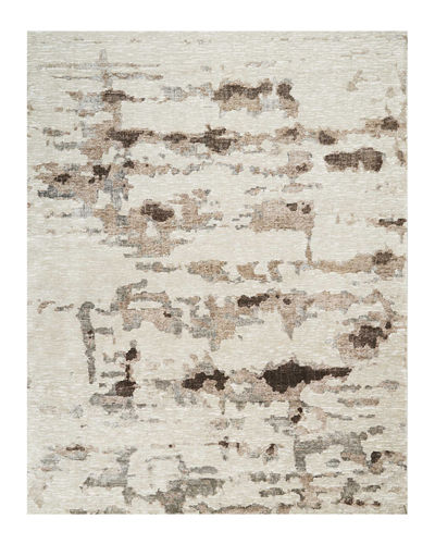 Aquarelle Natural Truffle Hand-Knotted Rug, 10' x 14'