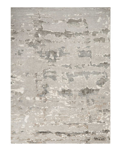Aquarelle Natural Truffle Hand-Knotted Rug  9' x 12'