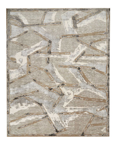 Chemin Misted Morning Hand-Knotted Rug, 8' x 10'