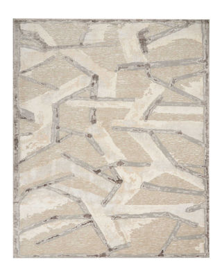 Chemin Misted Morning Hand-Knotted Rug, 9' x 12'