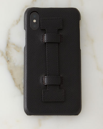 iPhone® X Leather Case w/ Finger Holder