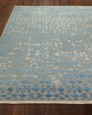 Anika Hand-Woven Rug, 9' x 12' and Matching