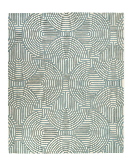 Image 3 of 4: Global Views Adonis Hand-Tufted Rug, 5' x 8'