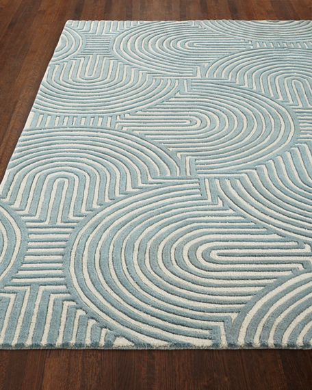 Image 4 of 4: Global Views Adonis Hand-Tufted Rug, 5' x 8'