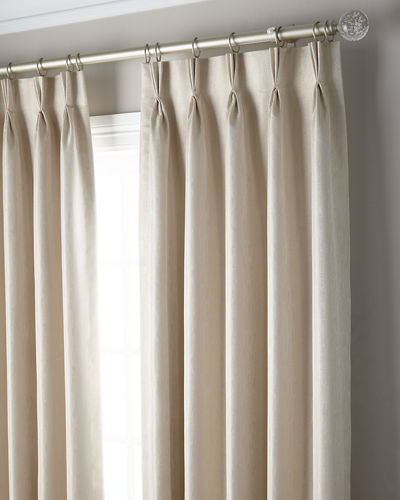 3-Fold Pinch Pleat Shimmer Curtain Panel, 120""