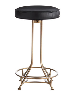 Arteriors Bexah Leather Counter Stool