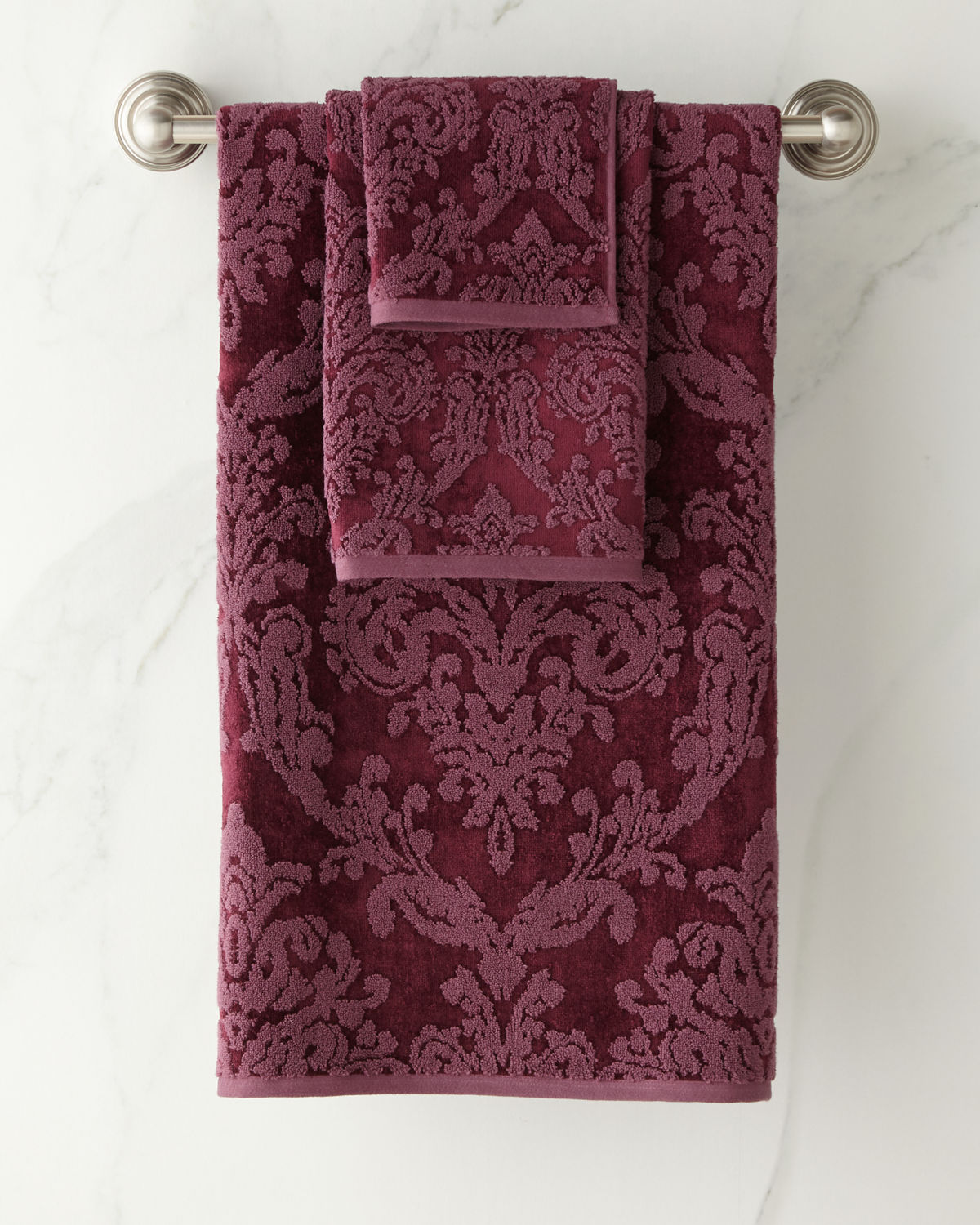 Riverside Damask Washcloth