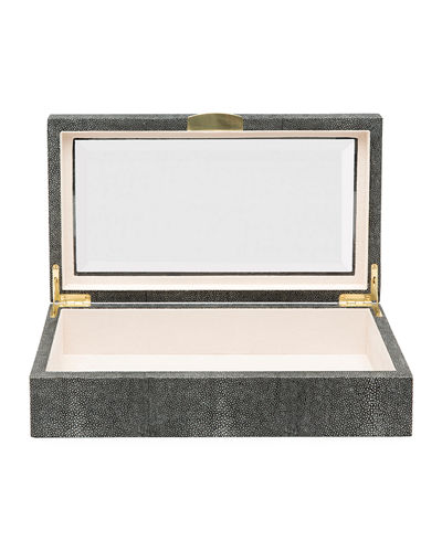 Pigeon and Poodle Henlow Rectangular Faux-Shagreen Display Box