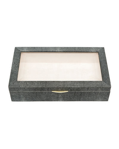Henlow Rectangular Faux-Shagreen Display Box