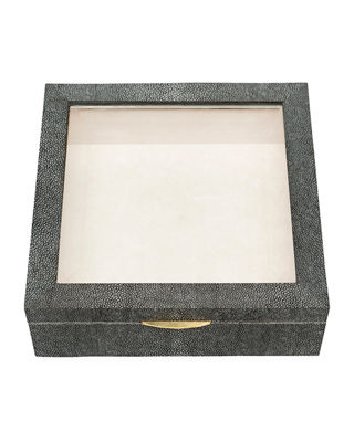 Pigeon and Poodle Henlow Square Faux-Shagreen Display Box