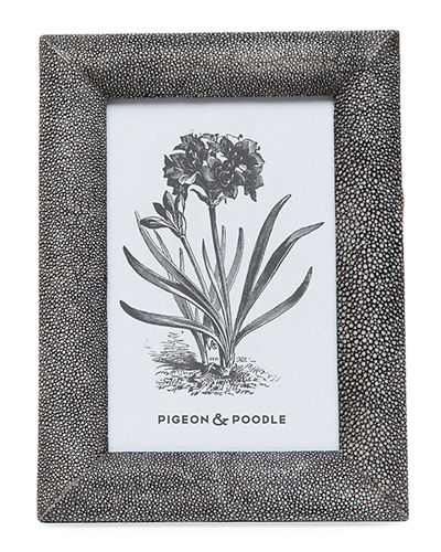 "Oxford Faux-Shagreen Picture Frame, 4"" x 6"""