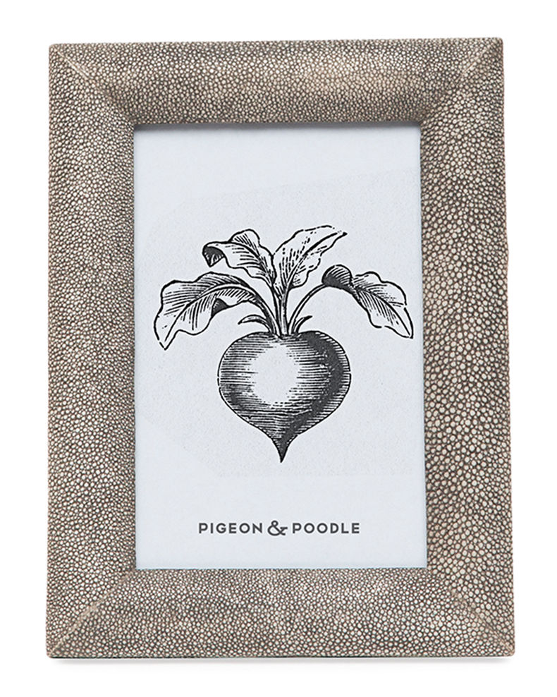 "Pigeon and Poodle Oxford Faux-Shagreen Picture Frame, 4"" x 6"""