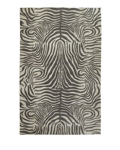 NourCouture Dariya Power-Loomed Zebra Rug, 3.9' x 5.9'