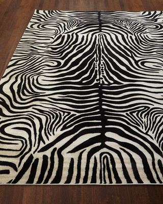 Barclay Butera Dariya Power-Loomed Zebra Rug, 5.3' x