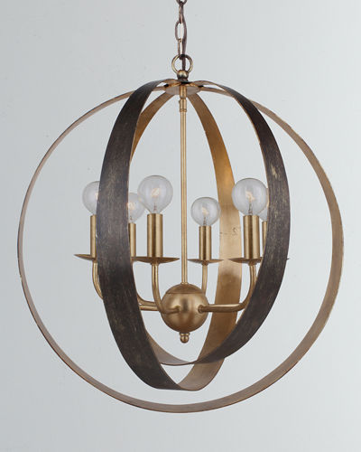 Luna 6-Light Sphere Large Chandelier