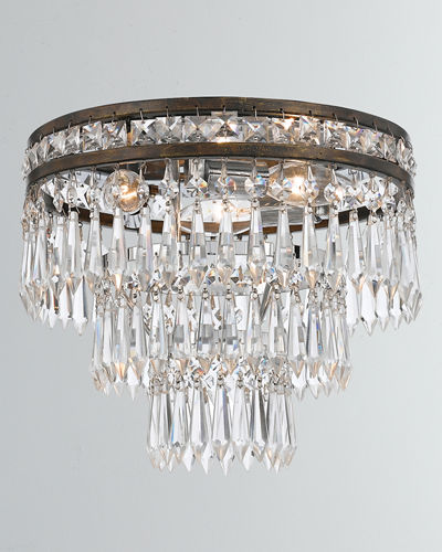 Mercer 3-Light Clear Crystal Flush Mount
