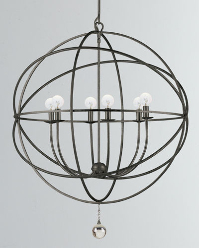 Solaris 6-Light Sphere Chandelier