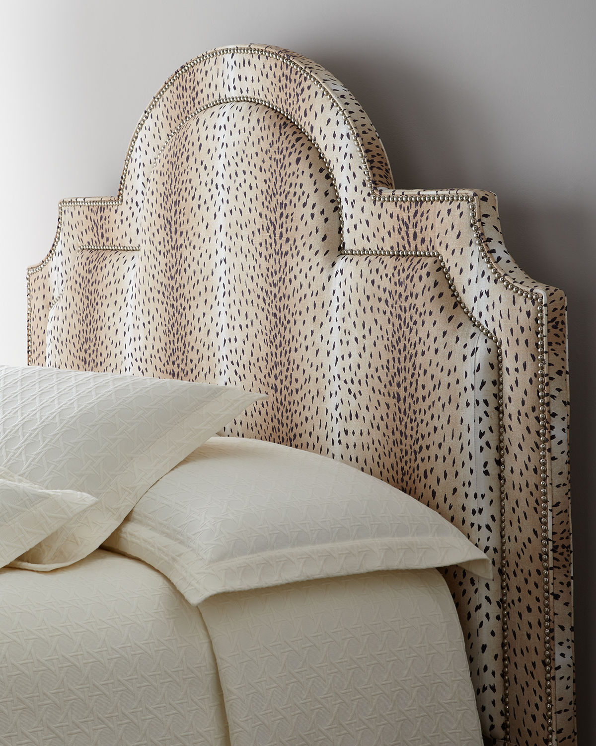 Maurice Animal-Print Queen Headboard