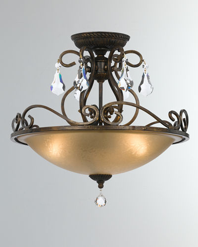 Ashton 3-Light Hand-Cut Ceiling Mount