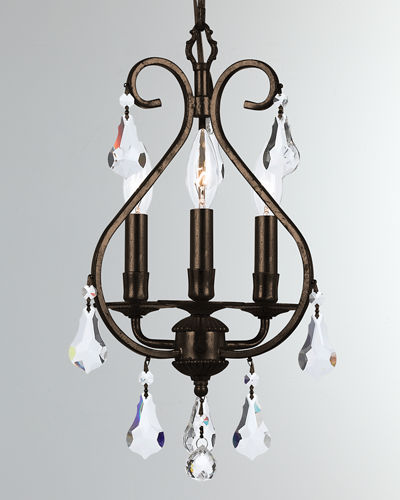 Crystorama Ashton 4-Light Clear Crystal Mini Chandelier