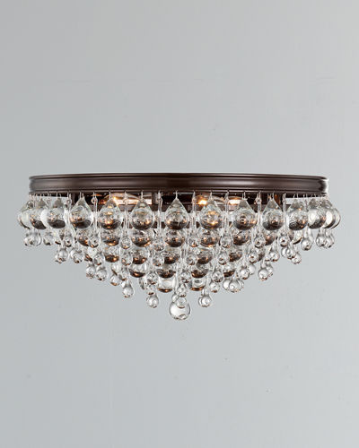 Calypso 6-Light Crystal Teardrop Ceiling Mount