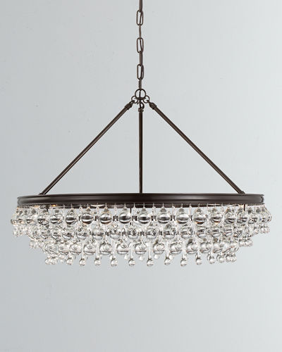 Calypso 6-Light Crystal Teardrop Chandelier