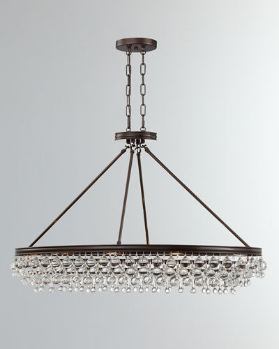 Calypso 8-Light Crystal Teardrop Oval Chandelier