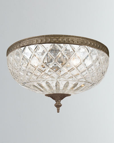 3-Light Crystal Ceiling Mount