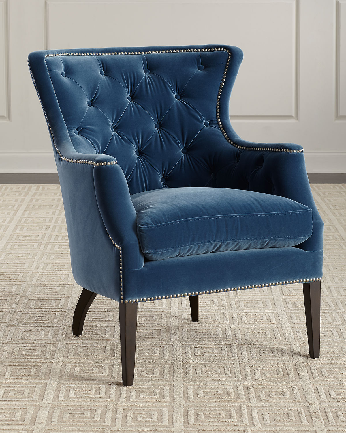 Tinley Velvet Wing Chair
