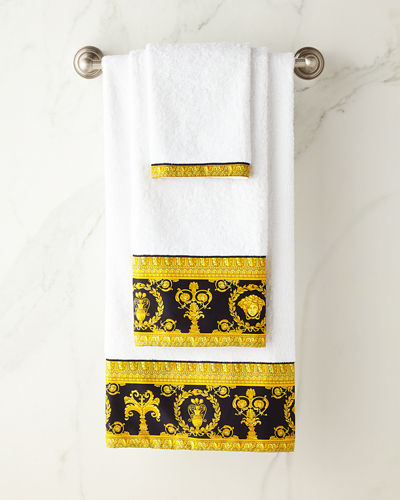 Baroque Border Large Bath Towel