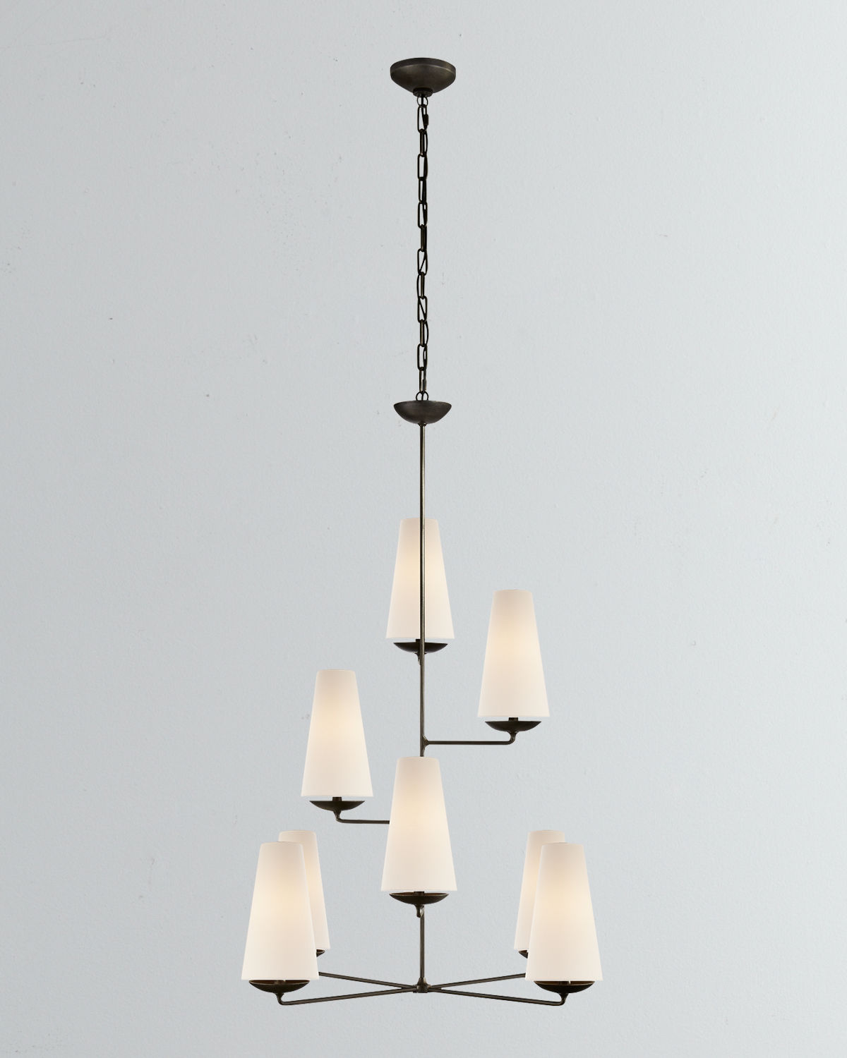 Aerin Clothing FONTAINE VERTICAL 8-LIGHT CHANDELIER