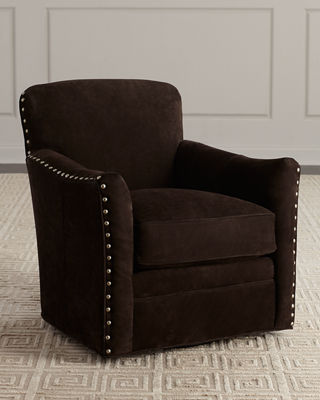 Corsini Leather Swivel Chair