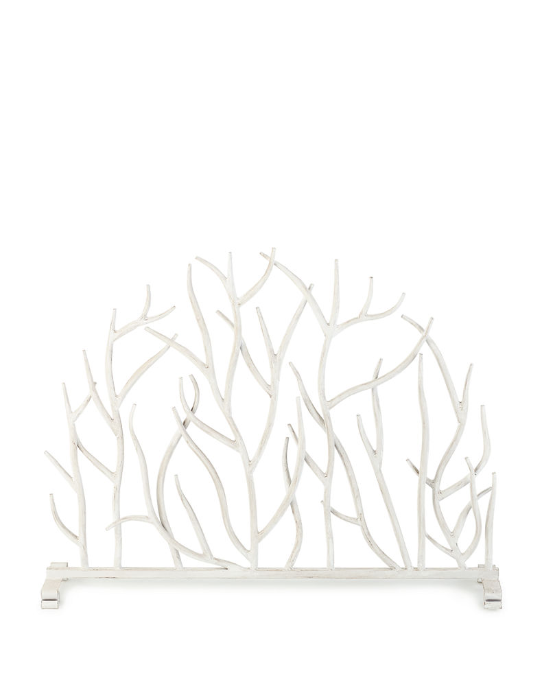 White Twig Branch Fireplace Screen