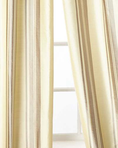 "Home Silks Ferris Curtain Panel, 96""L"