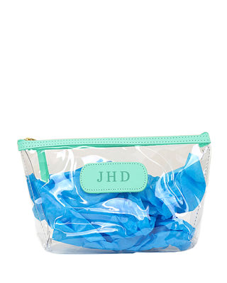 Clear Grande Cosmetic Bag in Light Green