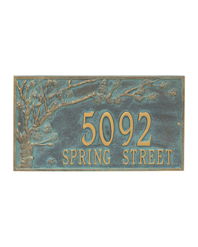 Personalized Spring Blossom Address Plaque