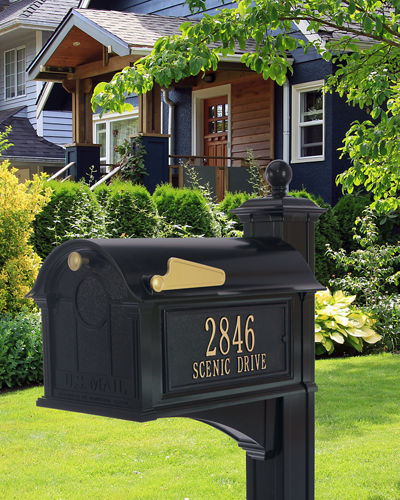 Balmoral Mailbox Side Plaques & Post Package