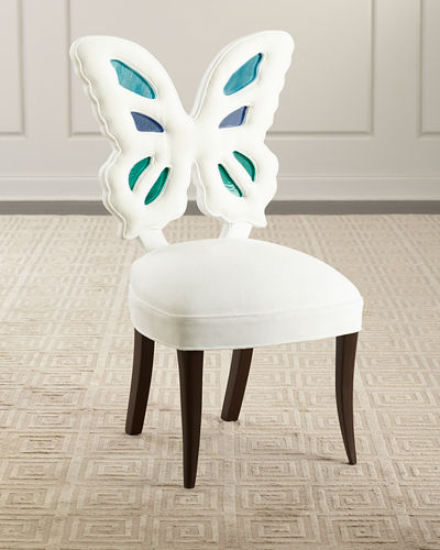 Farfalla Stained Glass Butterfly Dining Chair