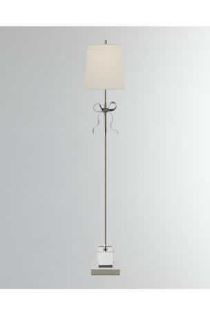 Visual Comfort Ellery Grosgrain Bow Floor Lamp