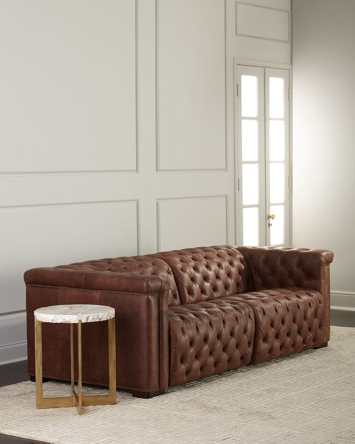 Hooker Furniture Luca Tufted Leather Motion Sofa, 88\