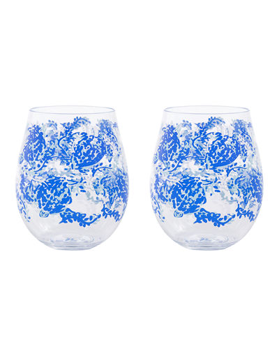Acrylic Wine Glasses  Set of 2